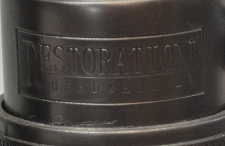 (PAIR) RESTORATION HARDWARE 'EMPIRE EGG' LAMPS - 5