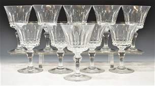 (10) BACCARAT 'PICCADILLY' CUT CRYSTAL GOBLETS