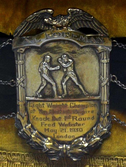 BRITISH BOXING CHAMPION AL FOREMAN 1930'S BELT