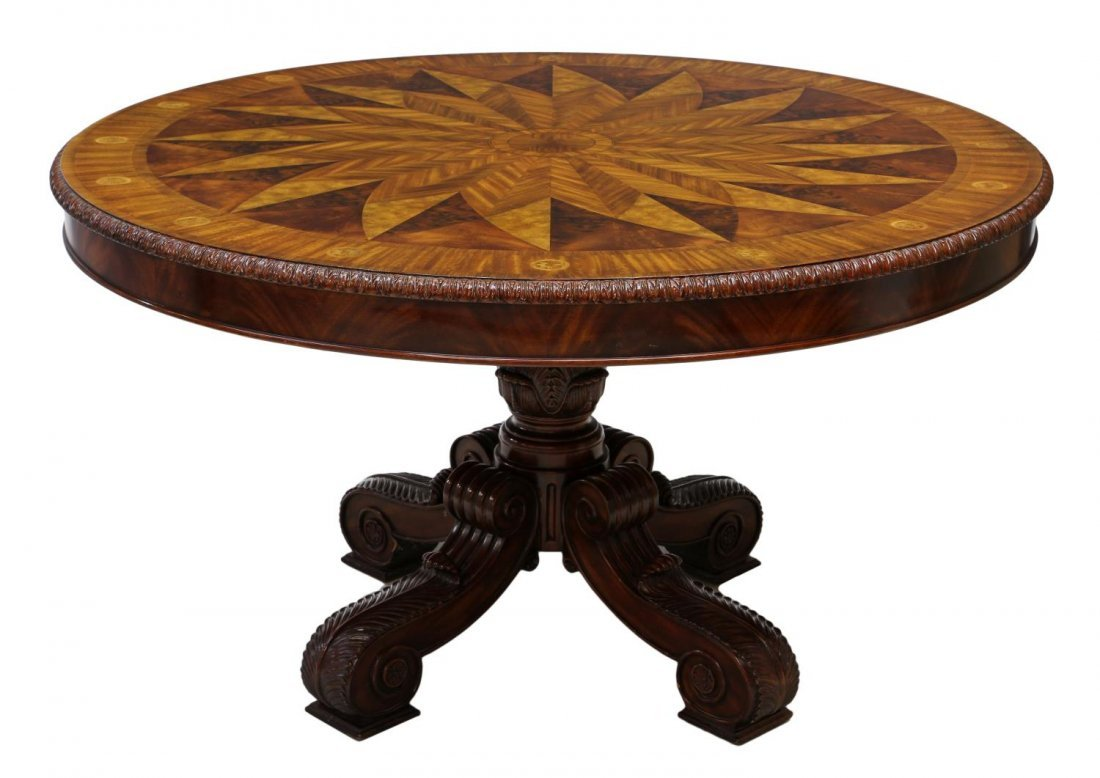 MAITLAND-SMITH MARQUETRY INLAID CENTER TABLE