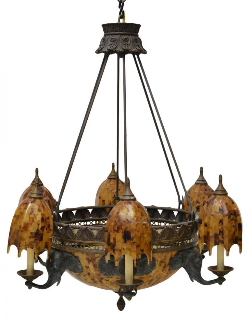 sc 1 st  LiveAuctioneers & MAITLAND-SMITH EIGHT LIGHT ELEPHANT CHANDELIER