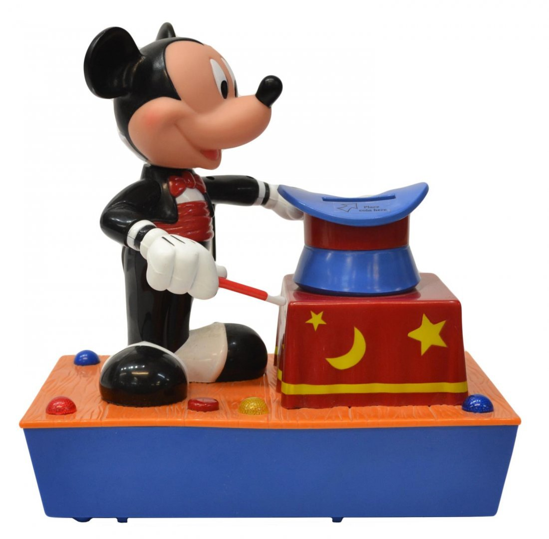 (3) MICKEY MOUSE MUSIC BOX, TALKING BANK TOYS - 5