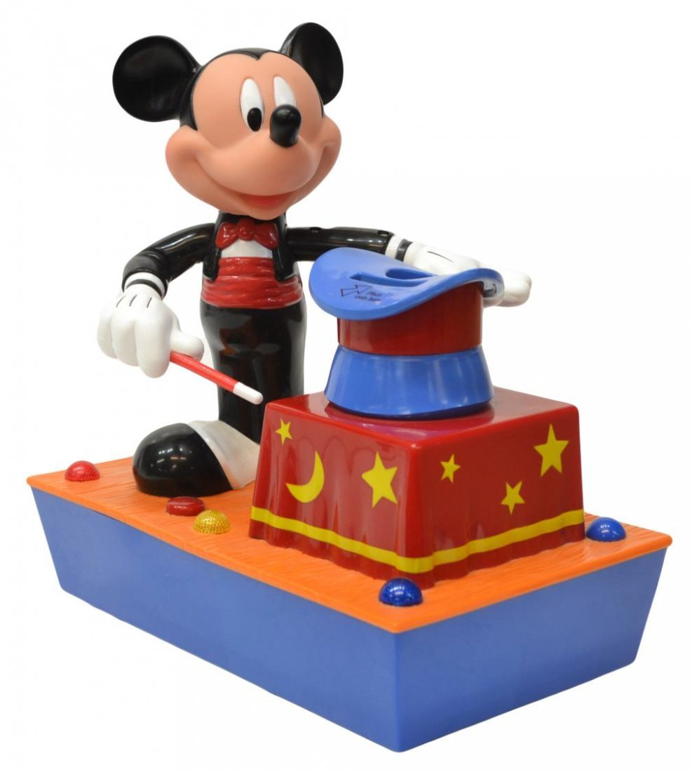 (3) MICKEY MOUSE MUSIC BOX, TALKING BANK TOYS - 6