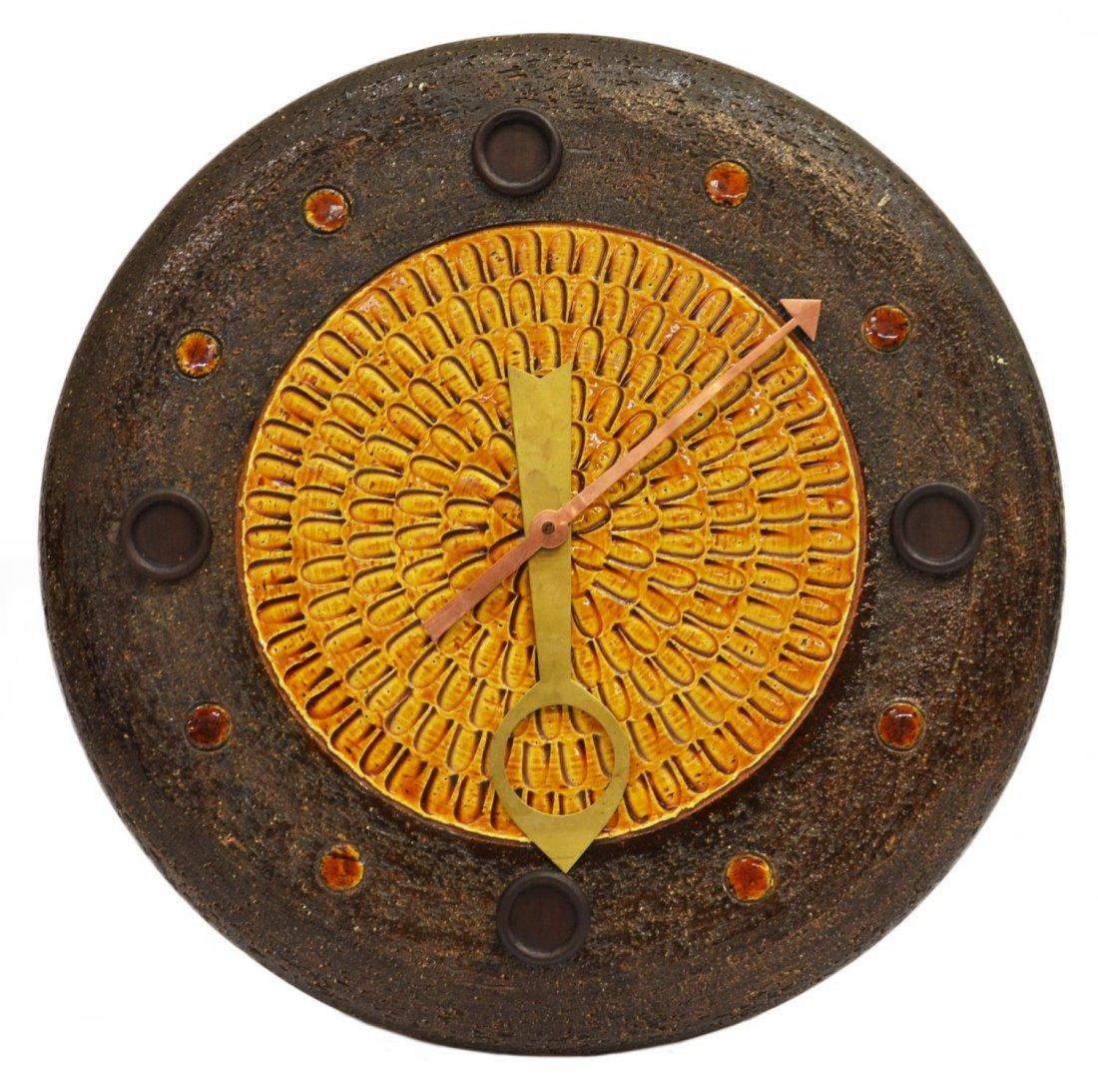 VINTAGE MERIDIAN CLOCK, ITALY, HOWARD MILLER