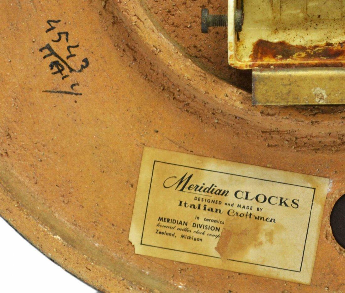 VINTAGE MERIDIAN CLOCK, ITALY, HOWARD MILLER - 6