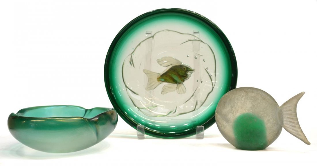 (3)ITALIAN MID-CENTURY MURANO GLASS GROUP, BARBINI