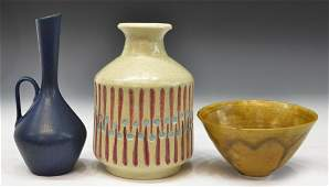 3 MIDCENTURY CARL HARRY STALHANE  ART POTTERY