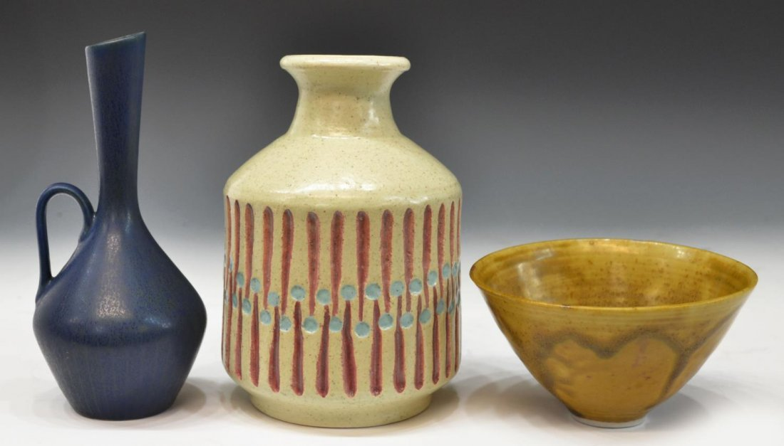 (3) MID-CENTURY CARL HARRY STALHANE & ART POTTERY