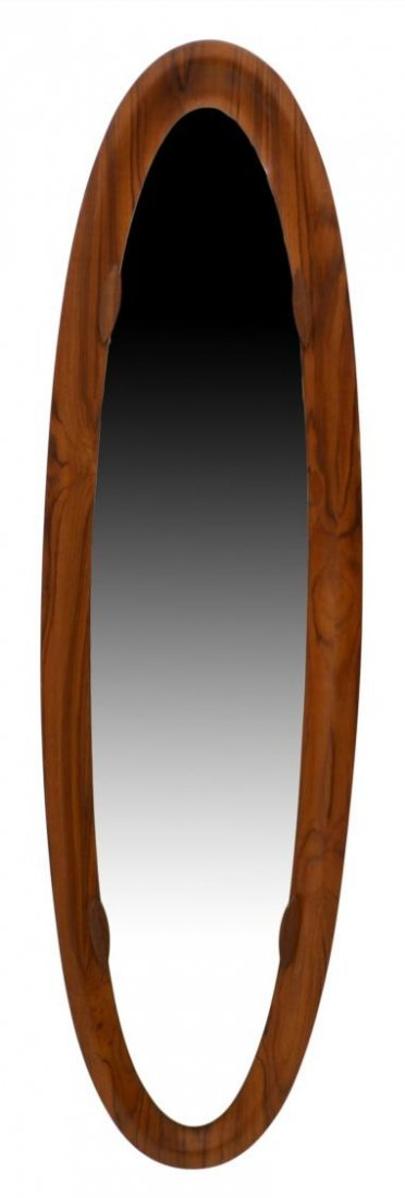 TEAKWOOD FRAMED OVAL DRESSING MIRROR