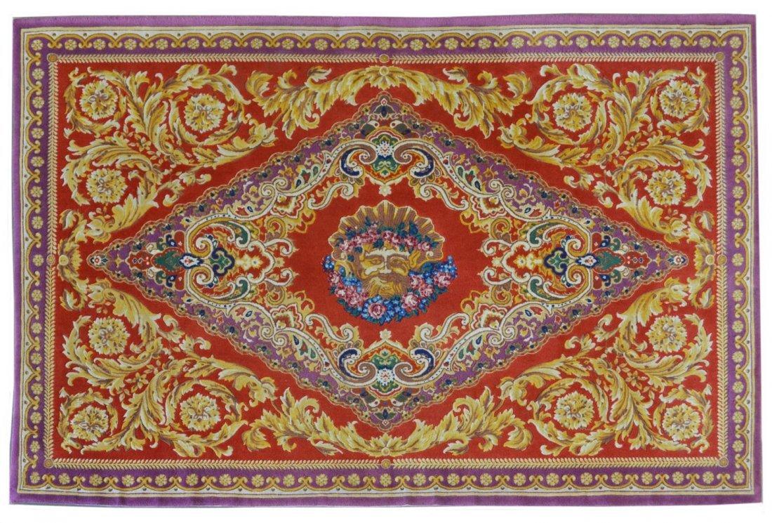 Gianni Versace Medusa Pattern Area Wool Rug