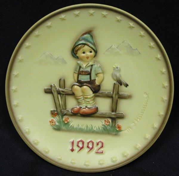 262: 1 HUMMEL PLATE, #288, 1992, TM7, WAYSIDE
