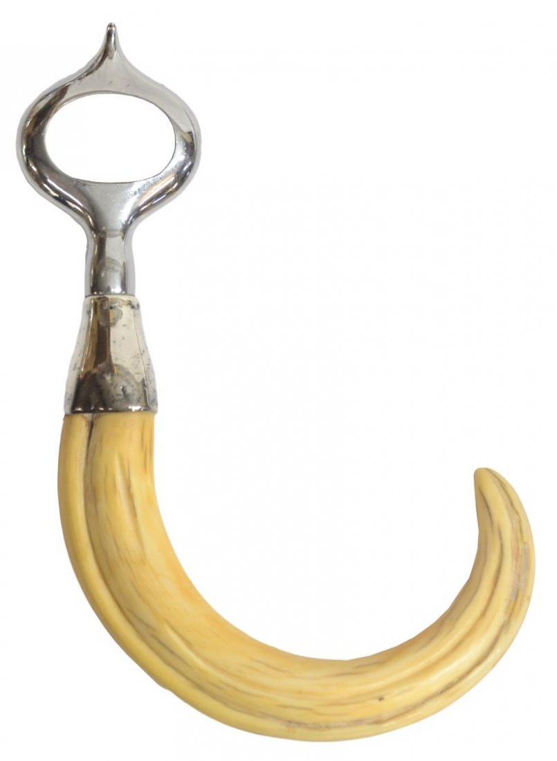 (4) WARTHOG TUSK & STERLING SILVER BAR ACCESSORIES - 2