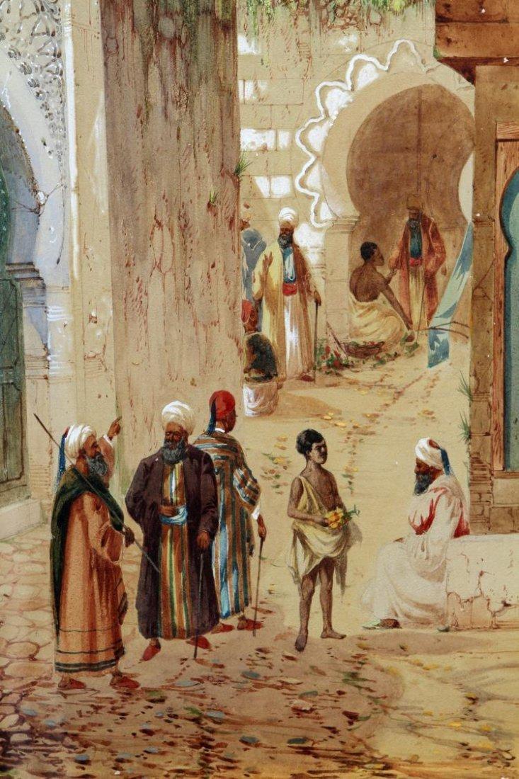 WATERCOLOR, ARABIAN STREET SCENE, H.S. LYNTON - 3