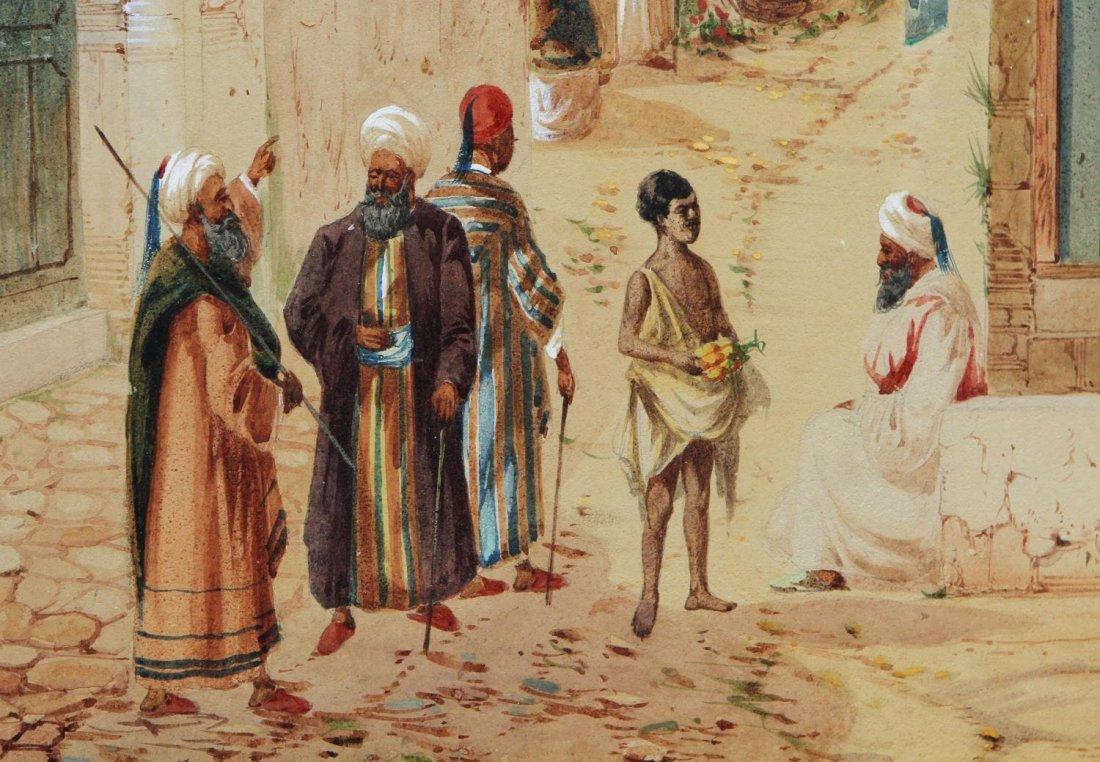 WATERCOLOR, ARABIAN STREET SCENE, H.S. LYNTON - 4