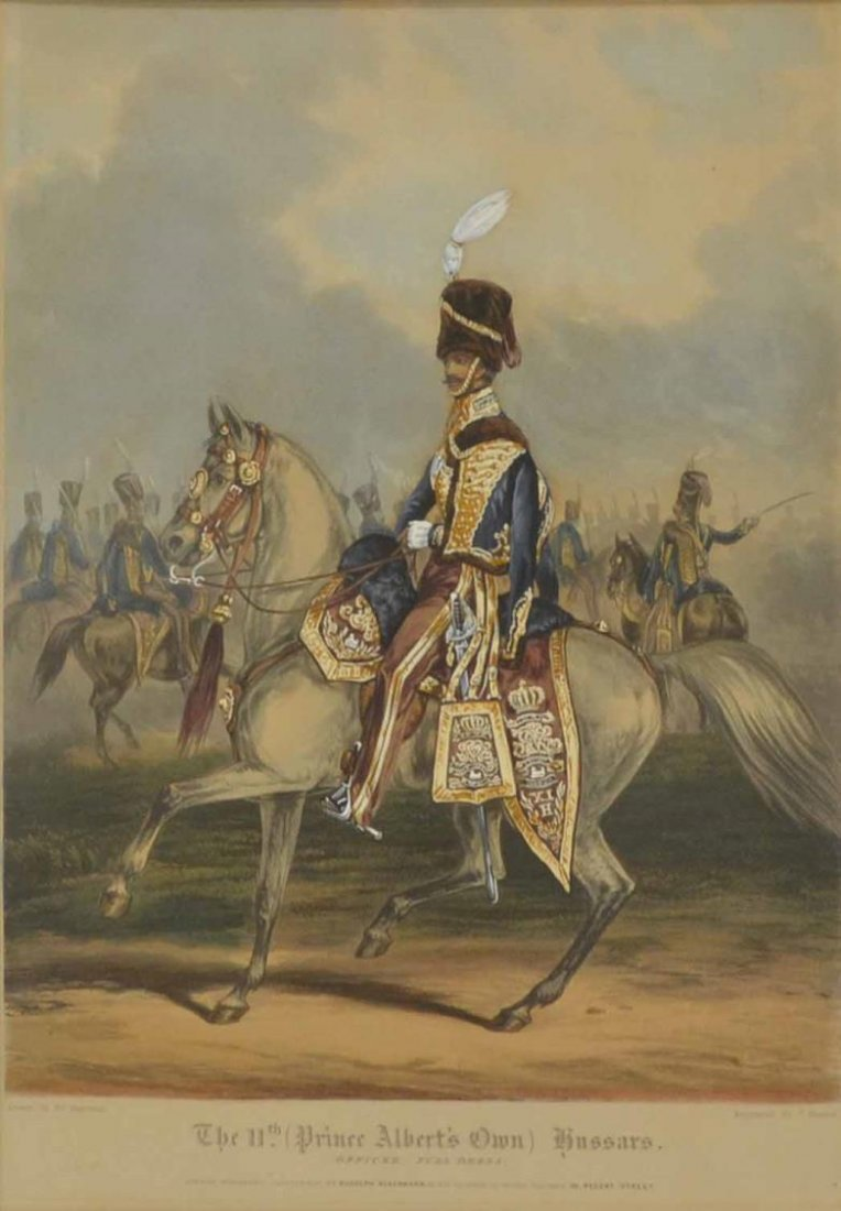 """ENGRAVING, """"THE 11TH HUSSARS"""", AFTER H. MARTENS"""
