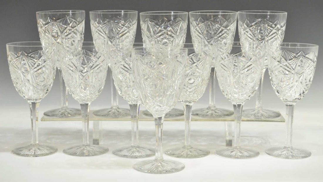 (12) BACCARAT CUT CRYSTAL 'LAGNEY' WATER GOBLETS