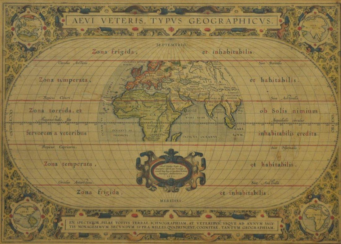 MAP, AEVI VETERIS TYPUS GEOGRAPHICUS, ORTELIUS