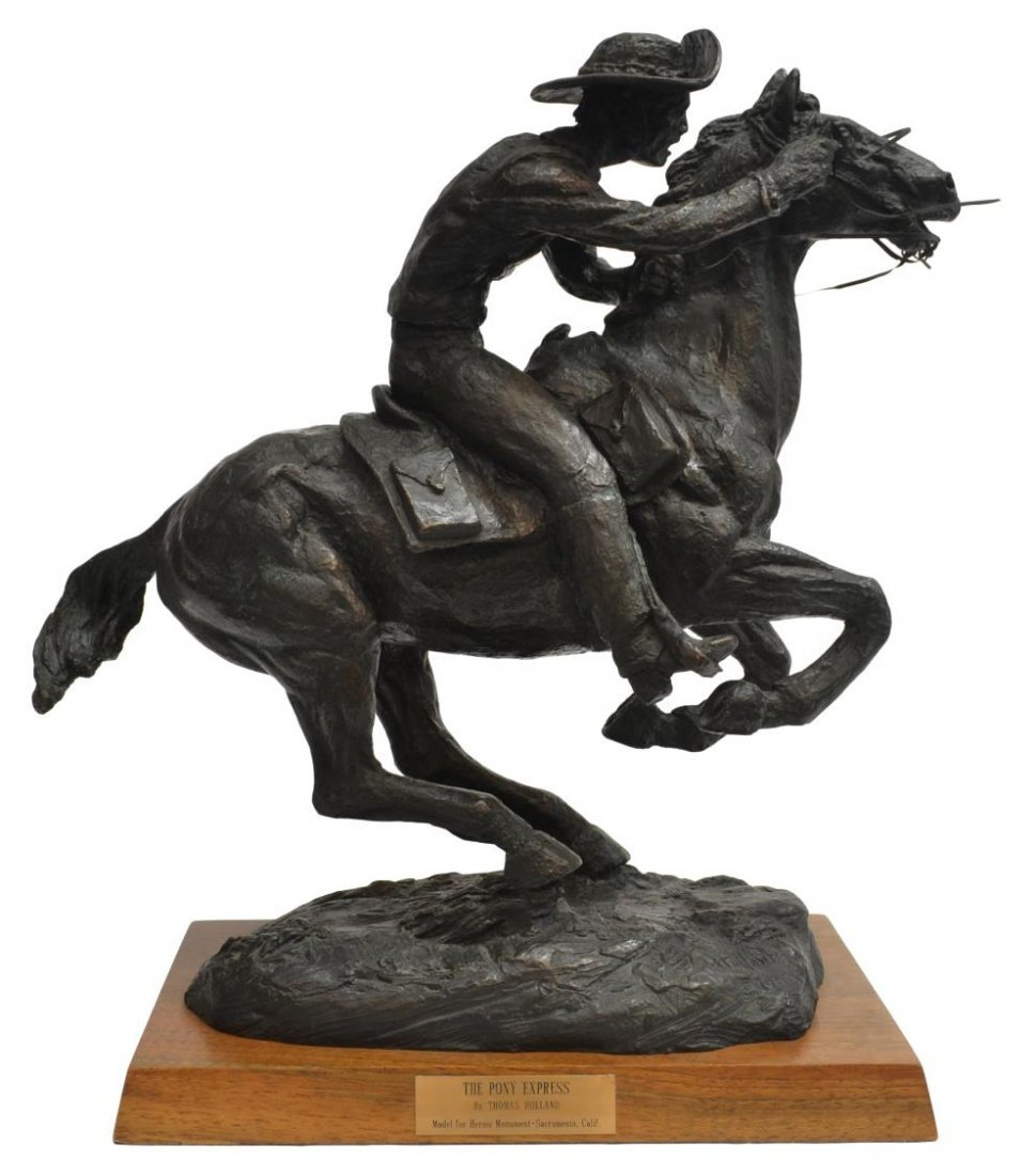 LIMITED SCULPTURE, PONY EXPRESS, THOMAS HOLLAND