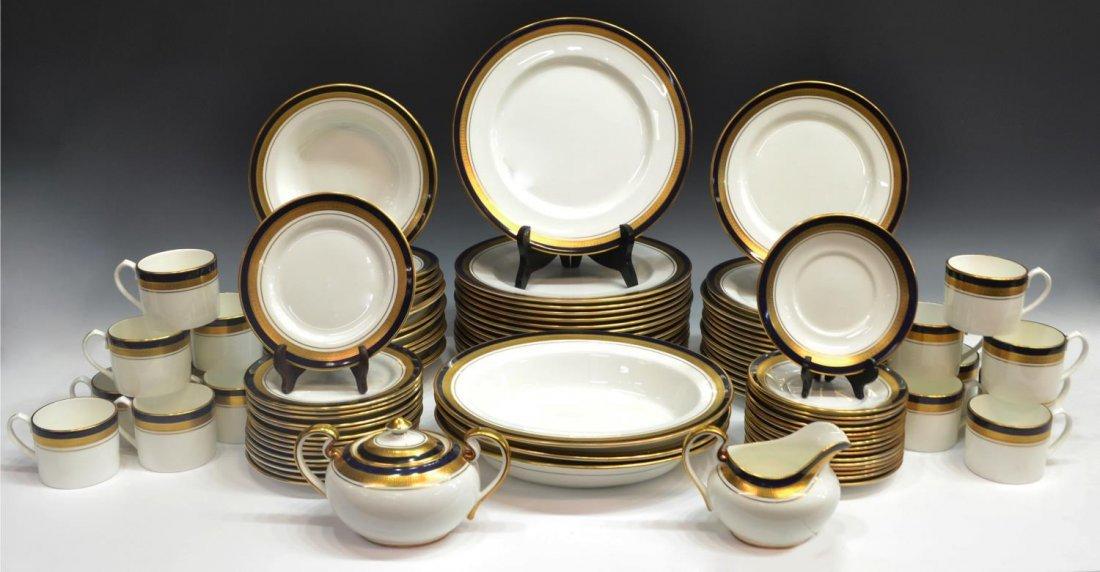 "(96) AYNSLEY & SONS ""COBALT ROYALE"" DINNER SET"