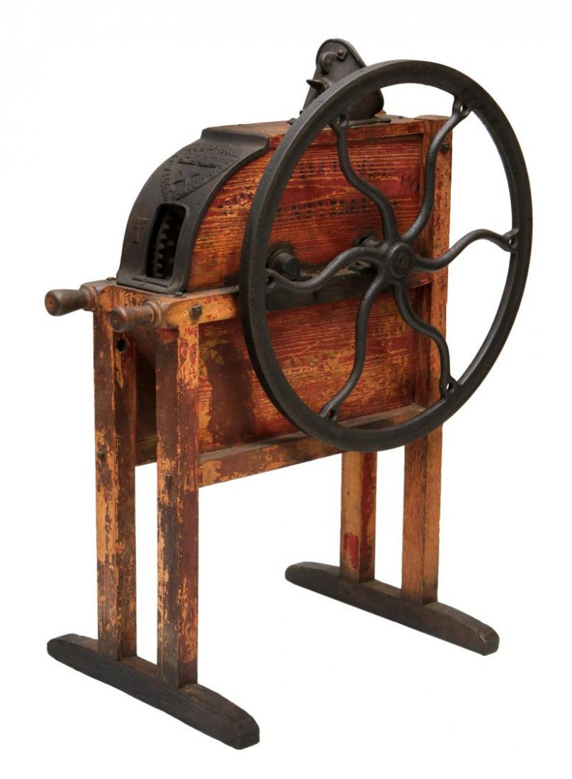 MOUNTVILLE PONY IRON & WOOD CORN SHELLER