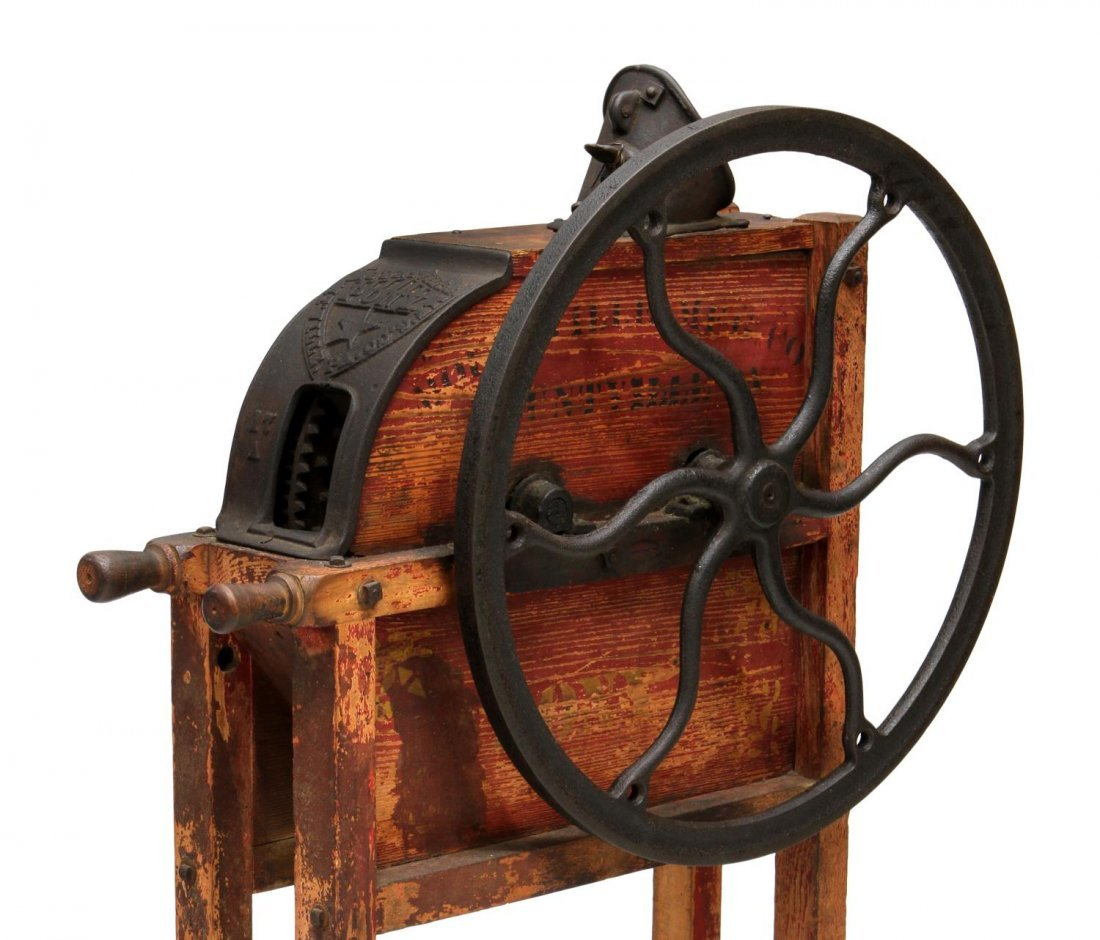 MOUNTVILLE PONY IRON & WOOD CORN SHELLER - 2