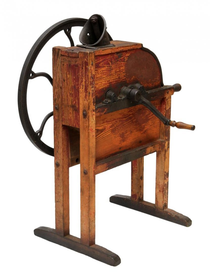MOUNTVILLE PONY IRON & WOOD CORN SHELLER - 4