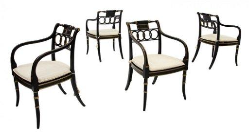 Excellent 4 Baker Governor Alston Arm Chairs Machost Co Dining Chair Design Ideas Machostcouk