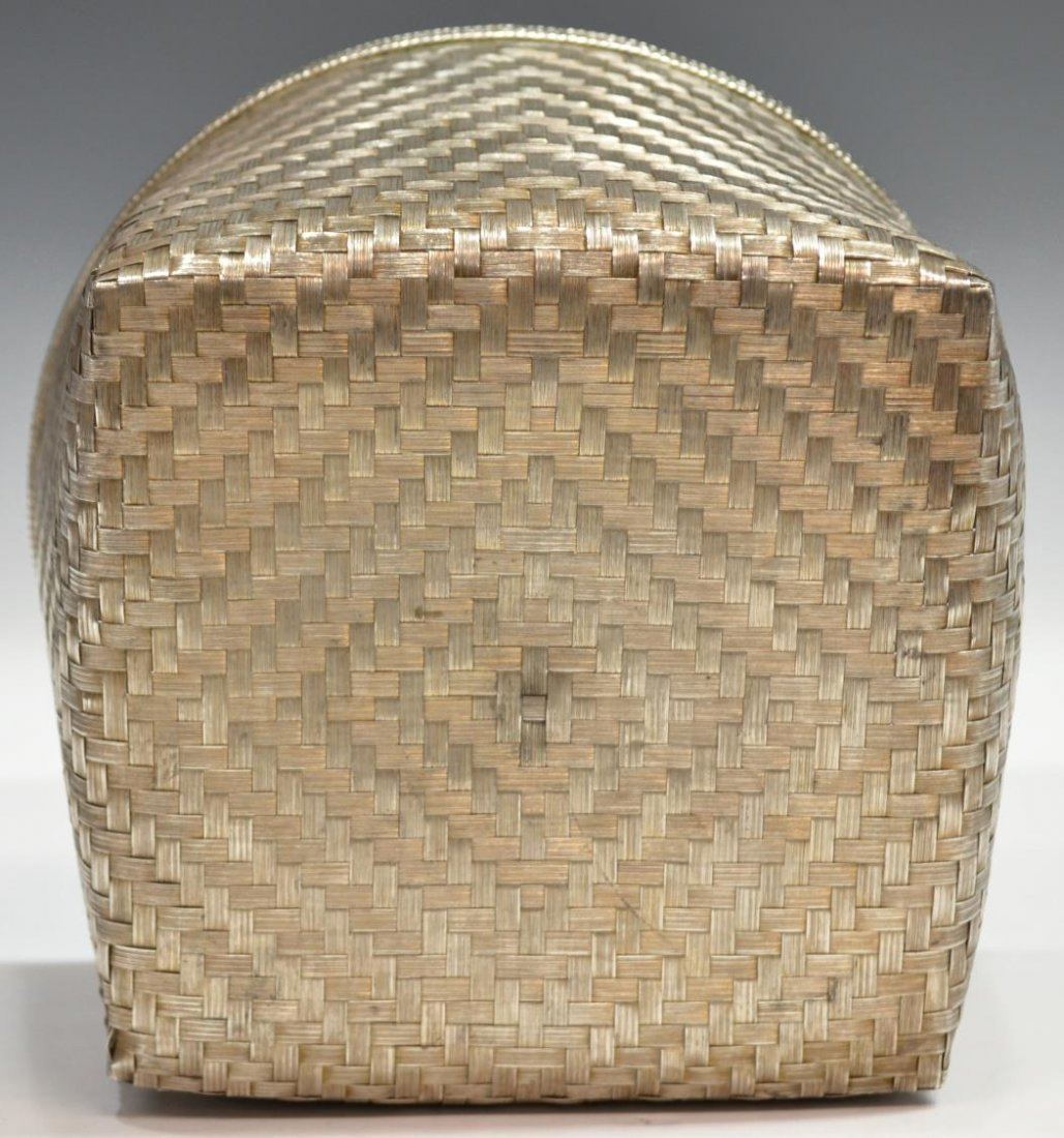 LARGE TANE MEXICO CITY 925 STERLING WOVEN BASKET - 5