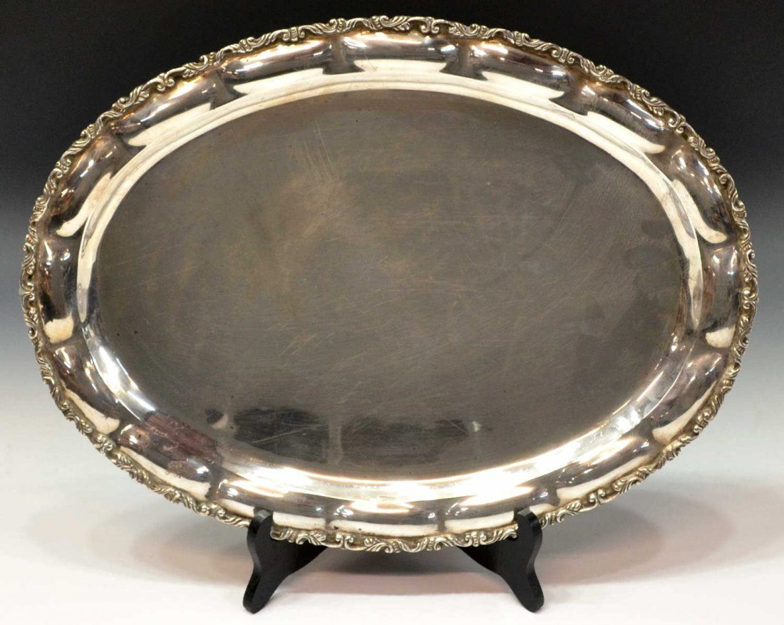 LARGE GUILLERMO NAVA TAXCO STERLING SILVER TRAY
