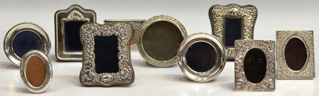 (10)VINTAGE MEXICO STERLING MINIATURE PHOTO FRAMES