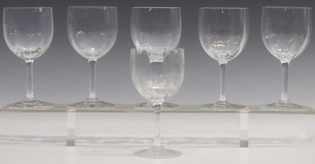 (6) BACCARAT CRYSTAL STEMWARE, MONTAIGNE OPTIC