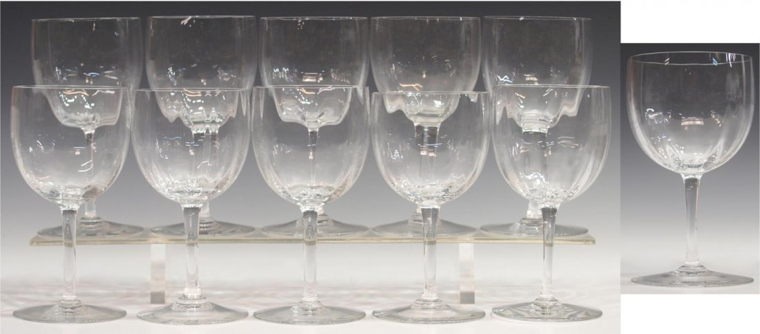 (11) BACCARAT CRYSTAL MONTAIGNE OPTIC GOBLETS