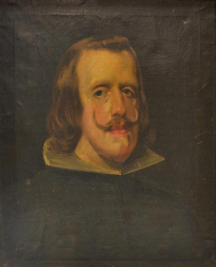 FRAMED PAINTING, PORTRAIT OF KING PHILIP IV, SPAIN