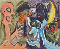 MIXED MEDIA PAINTING, HARMONIC CONVERSIONS, FINLEY