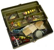 VINTAGE FISHING TACKLE BOX  ACCESSORIES