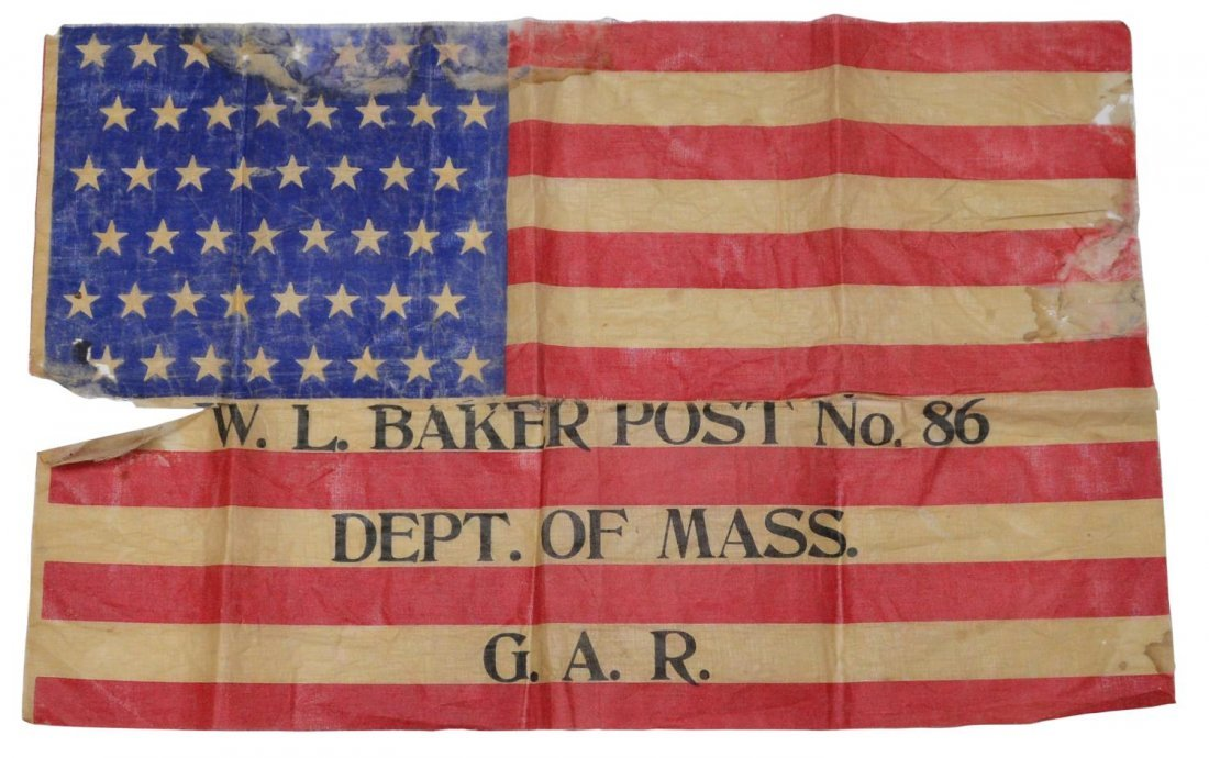 G.A.R. MASSACHUSETTS 48 STAR POST PARADE FLAG