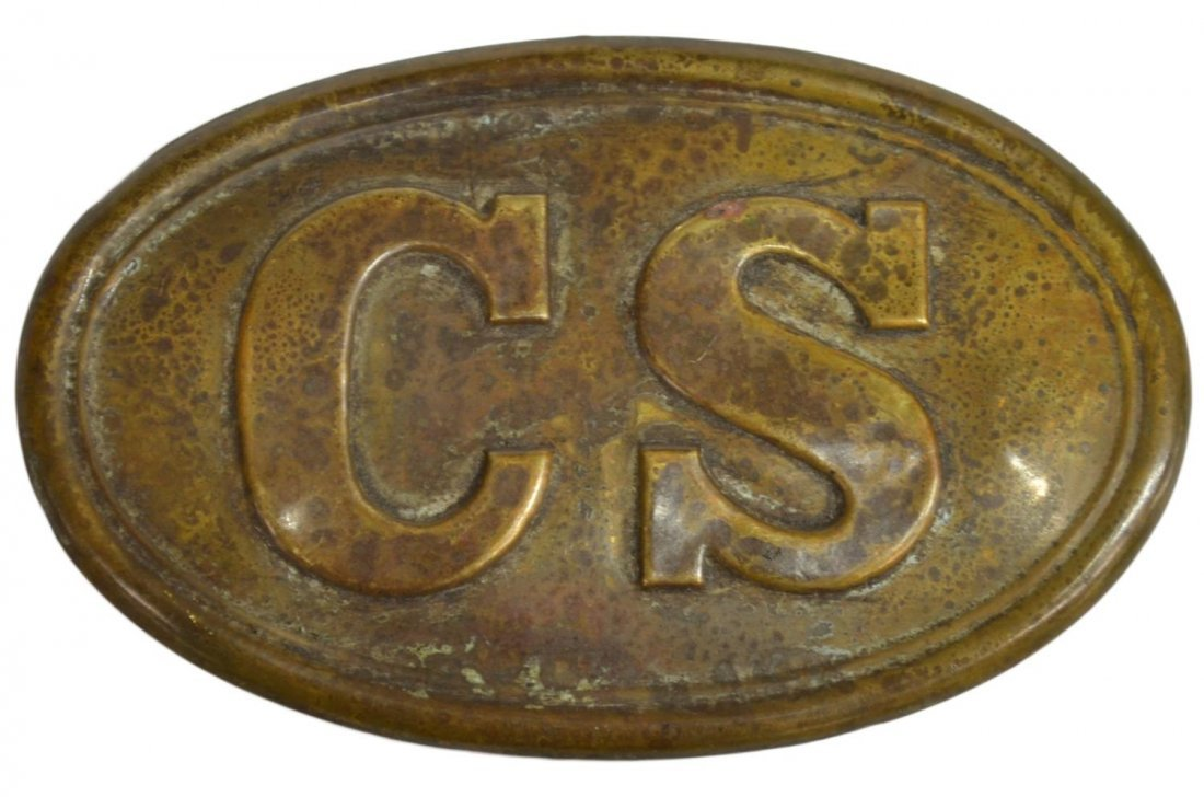 CIVIL WAR CONFEDERATE STATES BELT BUCKLE