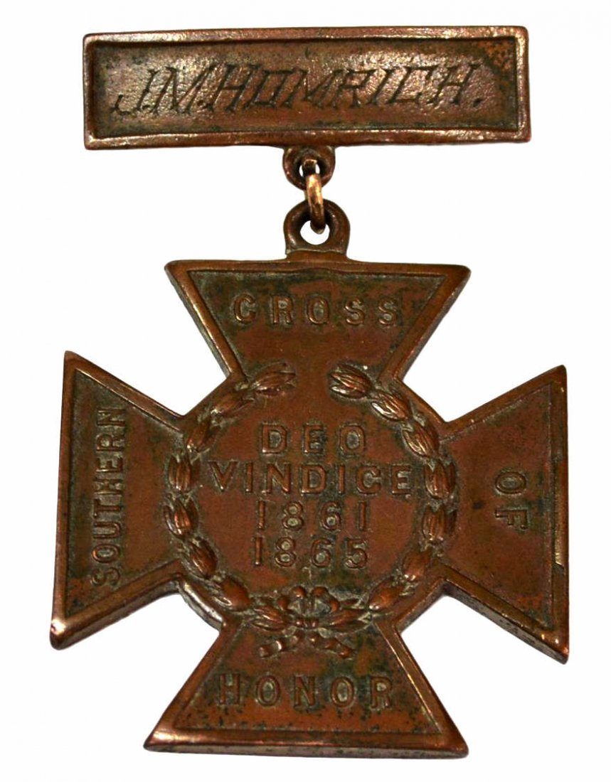IDENTIFIED CONFEDERATE SOUTHERN CROSS MEDAL