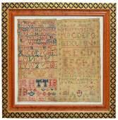 FRAMED 18TH C SCOTTISH DOUBLE SAMPLER