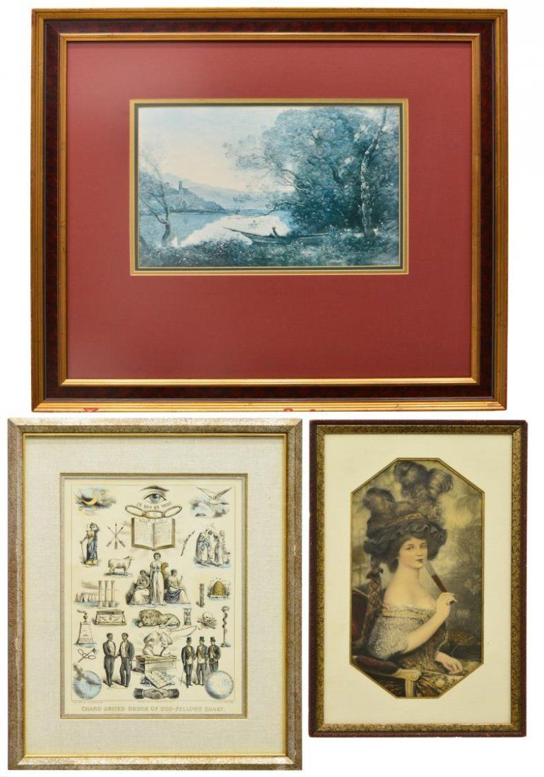 (3) PRINTS: CURRIER & IVES, NY GRAPHIC SOCIETY
