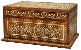 DECORATIVE BONE INLAID TABLE BOX