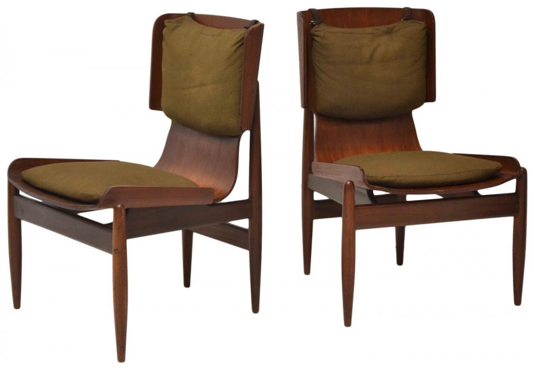 (PAIR) ITALIAN MID-CENTURY MODERN SIDE CHAIRS