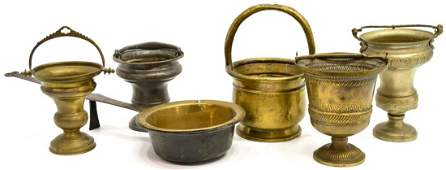 (6) COLLECTION BRASS & METAL TABLE ITEMS