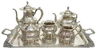 6 FRANK WHITING STERLING TEACOFFEE SET 266OZT
