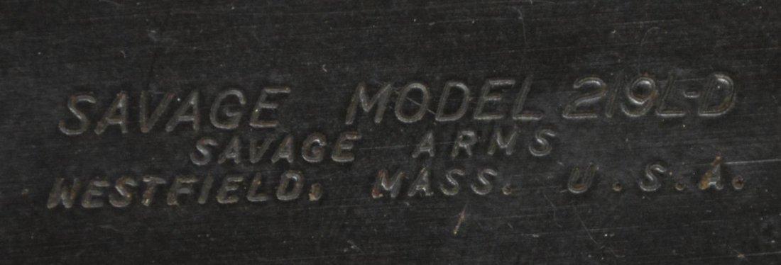SAVAGE MODEL 219D-L .22 HORNET RIFLE - 5