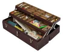 VINTAGE FISHING TACKLE BOX LURES REELS
