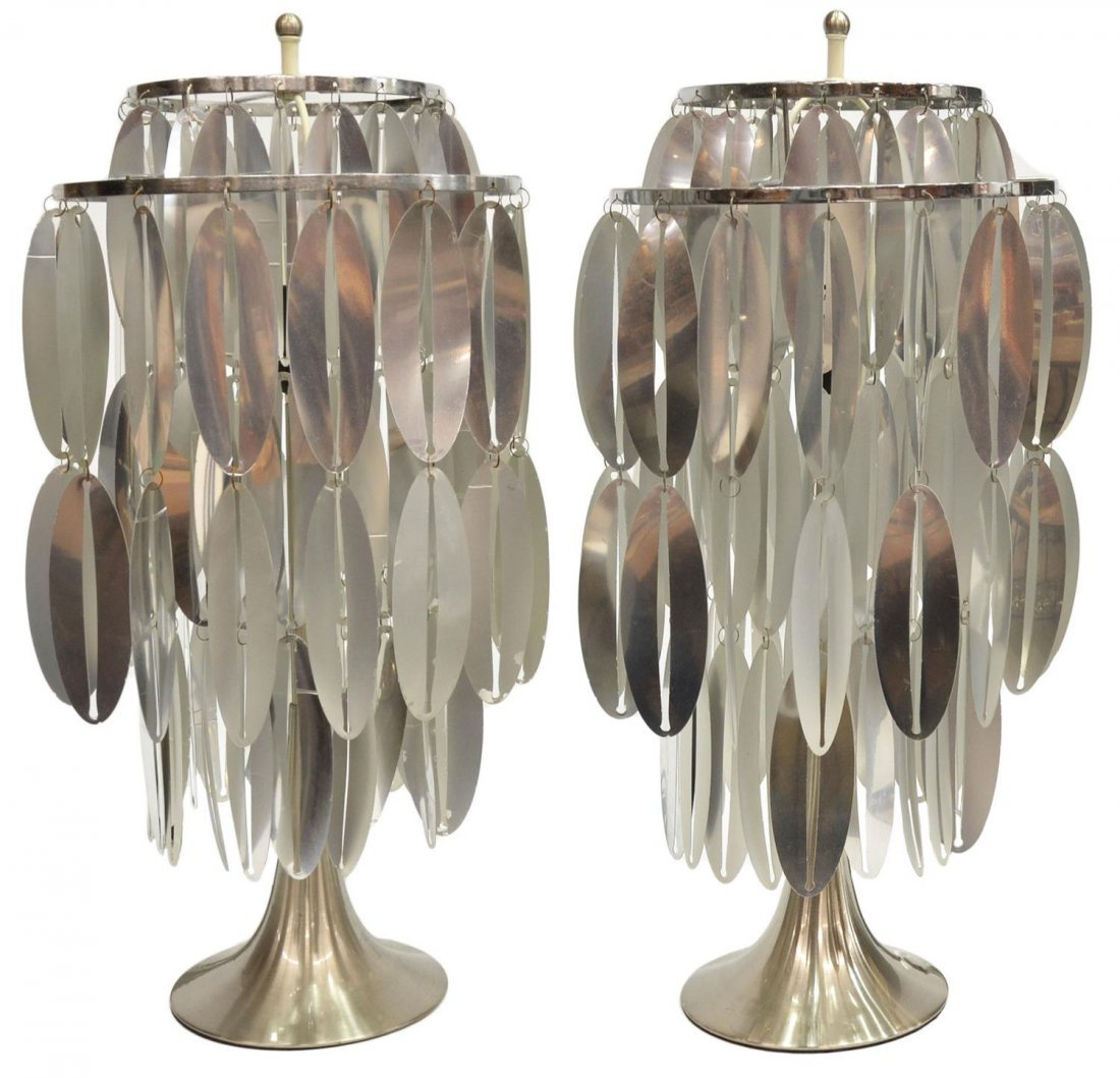 (PAIR) ITALIAN MODERN ONE-LIGHT TABLE LAMPS