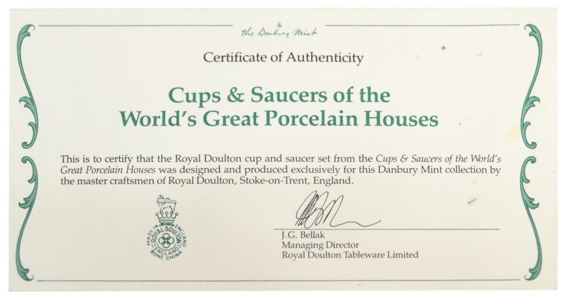 DANBURY MINT CUPS AND SAUCERS OF THE WORLD - 7