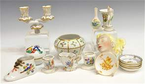 17 COLLECION HEREND PORCELAIN CABINET ITEMS