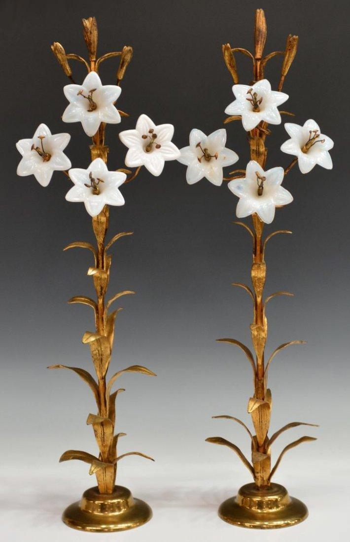 (2) CONTINENTAL GARNITURES, FLOWERING STALKS